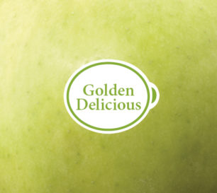 Golden Delicious packshot closeup